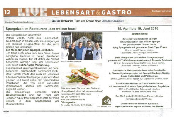 2016-0414_hh-abendblatt_livemagazin_anzeige-spargelzeit-im-restaurant-das-weisse-haus